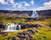 Scenic waterfall Dynjandifoss — Stock Photo