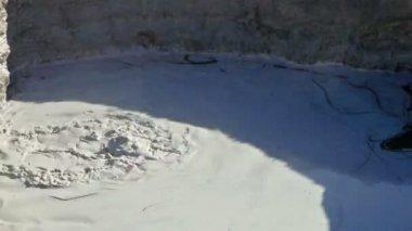 Boiling mud pool — Stock Video