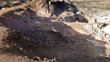 Krafla lava field — Stock Video