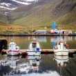 Three small fishing boats — Stock Photo #62647903
