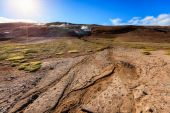 Hverir geothermal field — Stock Photo