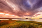 Sunset at Lake Myvatn — Stock Photo