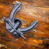 Anchor of a large sailing boat — Stock Photo