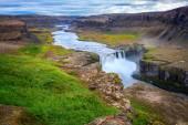 Hafragilsfoss waterfalls on Jokulsa Fjollum river — Stock Photo