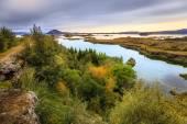 Lago myvatn nell'islanda settentrionale — Foto Stock