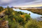 Lake Myvatn in Northern Iceland — Stock Photo