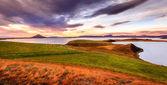 Sunset at Lake Myvatn — Stock Photo