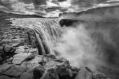 Dettfoss waterfall on Jokulsa Fjollum river — Stock Photo