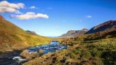 Seydisfjordur Fjord valley — Stock Photo