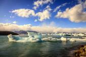 Lodowców pływających w lagunie jokulsarlon — Zdjęcie stockowe