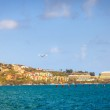 Seaplane takes off from a bay in St. Thomas — Stock Photo #74671713