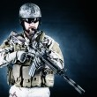 Bearded special forces soldier — Stock Photo #58909647