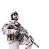 Bearded special warfare operator — Stock Photo