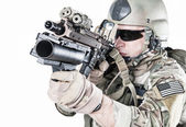 United States Army ranger with grenade launcher — Stock Photo