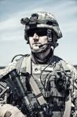 United States paratrooper — Stock Photo