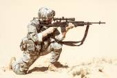 Marksman in action — Stock Photo