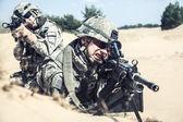 Infantrymen in action — Stock Photo