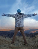 Freedom in mountains — Stock Photo
