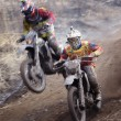 Off-road rider is jumping — Stock Photo #70854251