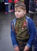 Boy in uniform of World War II — Stock Photo