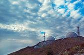 Three satellite dishes — Stock Photo