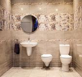 The toilet and bidet — Stock Photo