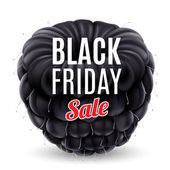Blackberry with Black Friday discounts — 图库矢量图片