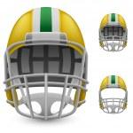Set of yellow football helmets — Stock Vector #67382771