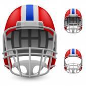 Set of football helmets — Stock Vector