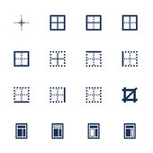 Windows icons set — Stock Vector