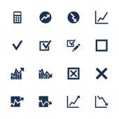 Diagram icons set — Stock Vector