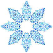 Snowflake for winter and Christmas design — Stock Vector