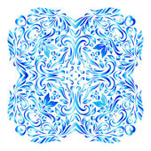 Snowflake made of elegant floral ornament — Vetor de Stock