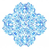 Snowflake made of floral pattern — Stock Vector