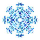 Blue ornate floral snowflake — Stock vektor