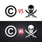 Fight copyright piracy — Stock Vector