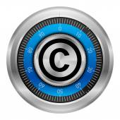 Copyright protection symbol — Stock Vector