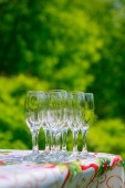 Empty glass on the table  — Stock Photo