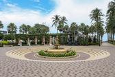 Fonte com anjinhos no hotel embaixador em Pattaya Sul — Foto Stock