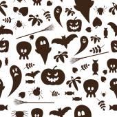 Seamless patterns of Halloween symbols — Stock Vector