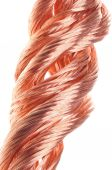Red copper wire industry — Stock Photo