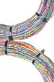 Wires with cable ties — Stock Photo