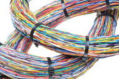 Wires with cable ties — Foto de Stock
