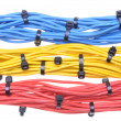 Colorful electrical cables — Stock Photo #57824731