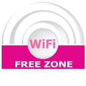 Free wifi zone vector sign — 图库矢量图片