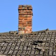Old roof with brick chimney — Stock Photo #60152229
