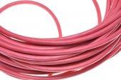 红色电力电缆 — 图库照片