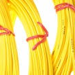 Yellow fiber optic cables — Stock Photo #61242661