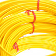 Yellow fiber optic cables — Stock Photo #61242429