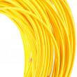 Yellow fiber optic cables — Stock Photo #61242501
